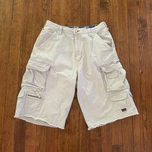 Plugg. cargo shorts very light cream size 32